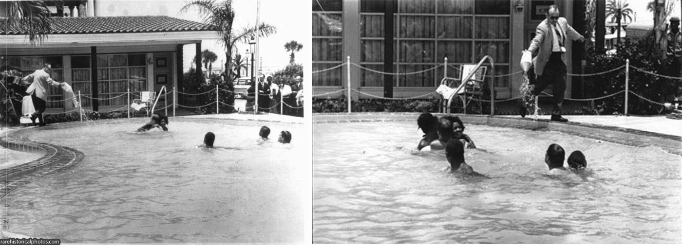Motel Manager Pouring Acid In The Water When Black People Swam In His Pool 1964 2 The Black